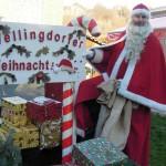 Der Weihnachtsmann freut sich über viele große und kleine Besucher beim Weillingdorfer Weihnachtsmarkt (Bild: Stadtteilbüro Ostufer).