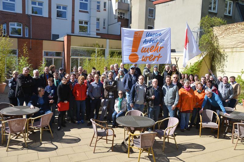 Streik an Tageszeitungen; Foto: Thomas Eisenkrätzer